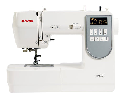 Janome MXL50 - SPECIAL PURCHASE - FREE THREAD SET WORTH £48 (28 reels silk finish Mettler)