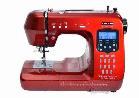 Necchi Rosso 200 with Extension table bundle + 3 PIECE QUILTING FOOT SET * MARCH OFFER LESS THAN 10 REMAINING *