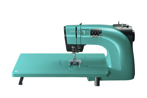 Toyota Oekaki Renaissance Quilt Edition in Turquoise (includes Extension table and Quilting Foot Set)