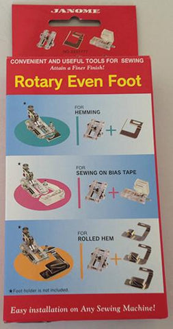 Janome Rotary Even Foot and Attachments - Category A, B and C ONLY 3237777