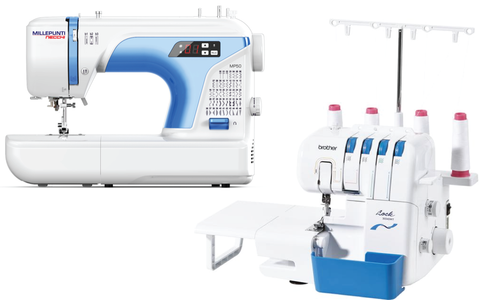 LUXURY CRAFT BUNDLE - Necchi MP50 Digital Sewing Machine, Brother 1034D Overlocker