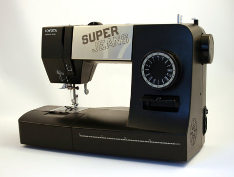 Toyota Super Jeans 17 XL - Supports thicker thread + FREE Glide foot for Sewing up to 12 layers!