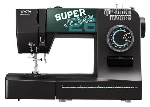 Toyota Super Jeans 26 XL - Supports thicker thread + FREE Glide foot for Sewing up to 12 layers!