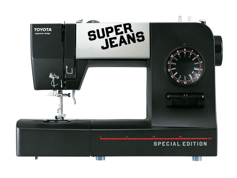 Toyota * Power Range * Super Jeans 15 Sewing Machine With Extension Table Bundle - Sews Silk To Leather