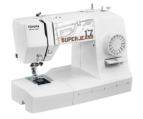 Toyota Super Jeans 17 Sewing Machine White Edition - Sews Silk To Leather * Power Range *