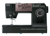 Toyota * Power Range * Super Jeans 34 Sewing Machine (Black) - BLACK FRIDAY OFFER - Free Glide Foot, Sews Silk To Leather *