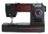 Toyota * Power Range * Super Jeans 26 Sewing Machine (Black) - Free Glide Foot, Sews Silk To Leather