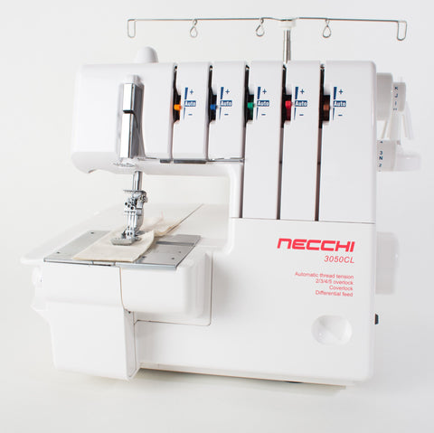 Necchi Pro Series 3050 CL Overlocker with Coverstitch * Auto Tension * 5 Thread Overlocker With Coverstitch