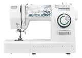 Toyota Super Jeans 26 (White) - FREE Glide foot for Sewing up to 12 layers!