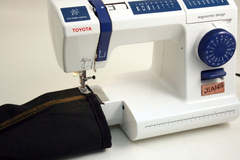 Toyota Jeans JSPA17 - Easy Denim sewing * strong reliable machine * 17 stitch patterns (inc. stretch stitches and overlocking)