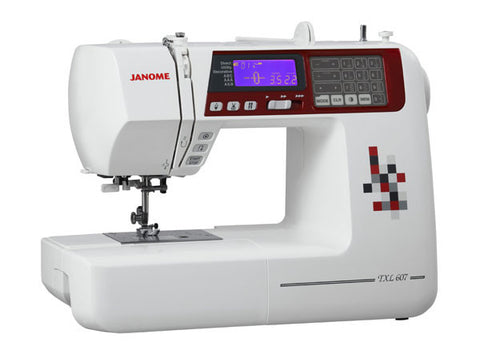Janome TXL607 - over 400 stitch patterns with alphabet and numbers