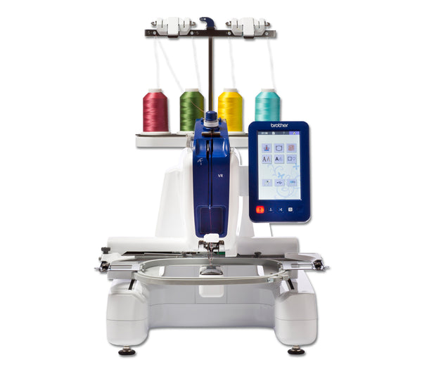 Brother VR 4 thread Embroidery System + Free motion quilting Machine