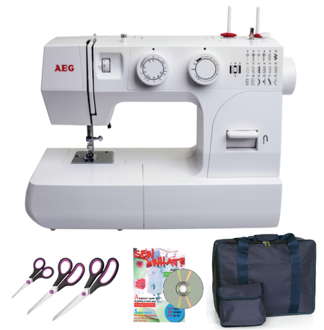 AEG 14K + Gift Bundle worth £89.99 inc. Scissor set, carry bag & Sew What? DVD