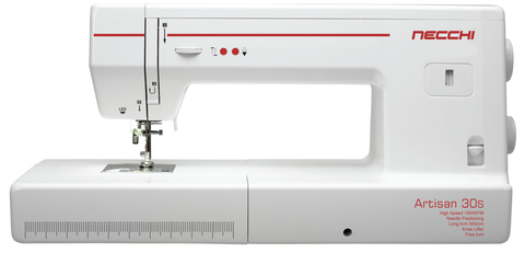"Necchi Artisan 30S LONG ARM QUILTER * PREORDER FOR SEPTEMBER DELIVERY - SAVE £300 - 12"" arm length (needle up/down + knee lift)"