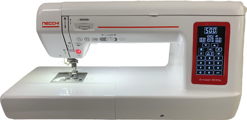 "Necchi Artisan 500S Sewing Machine - Long Arm Quilter * 12"" Arm Length (500 Stitches, Auto Thread Cut, Needle Up/Down + Knee Lift) * Due July 2019 - preorder now and save! *"