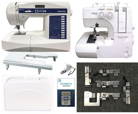 Jaguar Studio HD Bundle - HD696 Sewing Machine And 097 Overlocker + Accessories