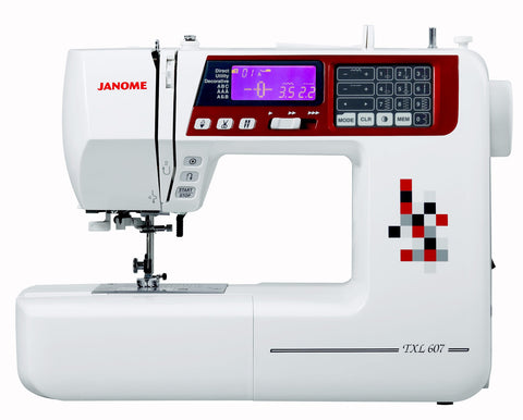 Janome TXL 607 - over 400 stitch patterns with alphabet and numbers (TXL607)