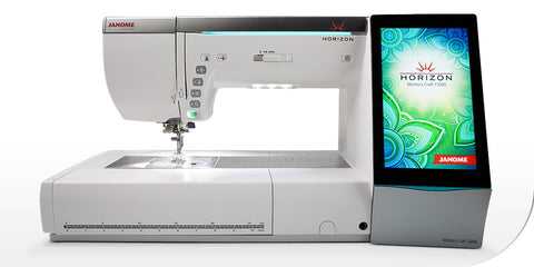 Janome Horizon Memory Craft 15000 with Quilt Maker Upgrade Kit and Digitizer MBX Software worth £899