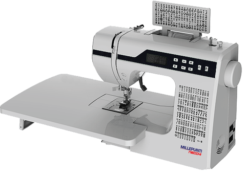 Millepunti by Necchi MP200, with Alphabet and Numeral stitches, Drop in bobbin + FREE Extension Table worth £49