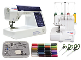 CRAFT BUNDLE PRO - Pro 200 Sewing Machine, Pro DF4 Overlocker, 16 Piece Feet Set, 24 x Threads & Scissor Set