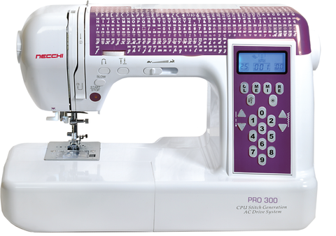 Necchi Pro 300 Sewing Machine - With Extension Table And Hard Cover * Latest 2018 Model *