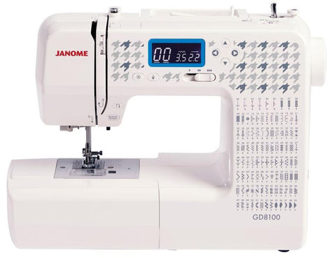 Janome GD8100 Silk to Leather - 100 stitch patterns * Popular model back in stock *