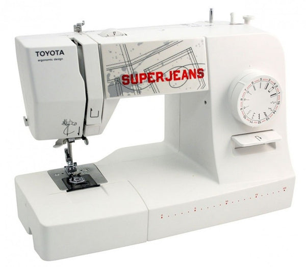 Toyota Super Jeans 15 * White Edition * FREE Glide foot for Sewing up to 12 layers!