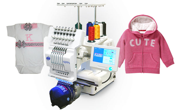 Happy Journey 7P (industrial motor with machinery directive) - Professional Embroidery System (7 needles, Japanese manufactured)