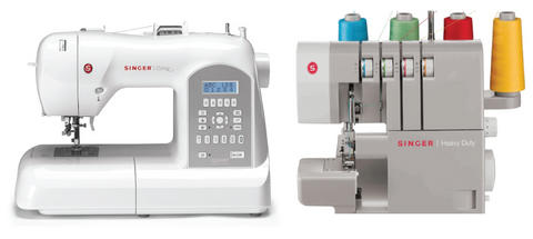 Singer Heavy Duty Pro Bundle - 8770 Curvy + 14HD Overlocker worth over £1000!