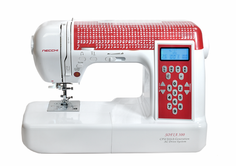 Necchi Sofia 300 Sewing Machine - 300 Stitch Patterns With Alphabet - Inc. Hard Cover And Extension Table (Offer now on)