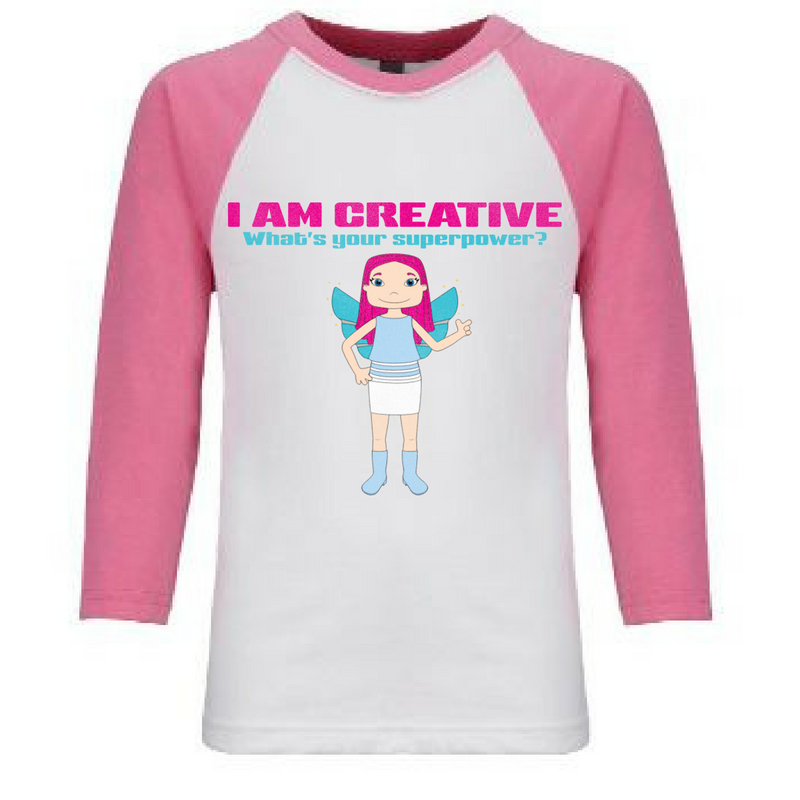 Preprinted Girl Baseball Sleeve- Im Creative