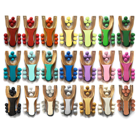 Little Lark - Classic Wooden Slingshot in Rainbow of Colors
