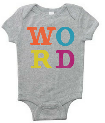Preprinted Infant/Onesie: Word