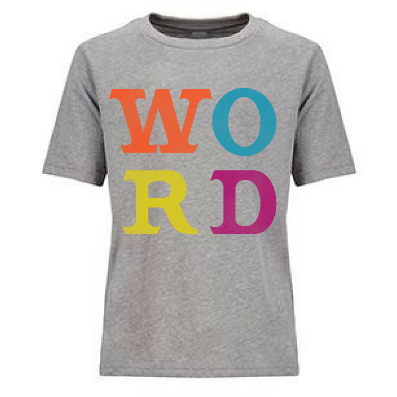Preprinted Unisex Tee: WORD