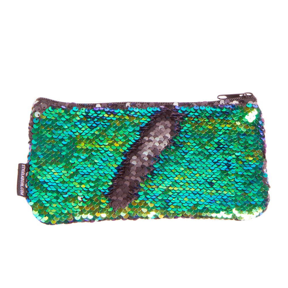Magic Mini Sequin Pouch - Mermaid/Iridescent Black