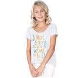 Preprinted: Girl Hi Lo Scoopneck Fashion - What Story