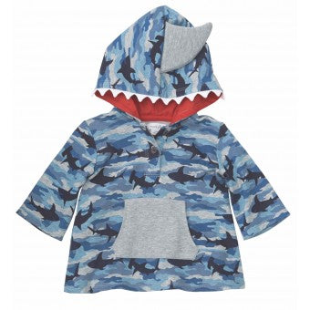 Camo Shark Hooded Cover-Up