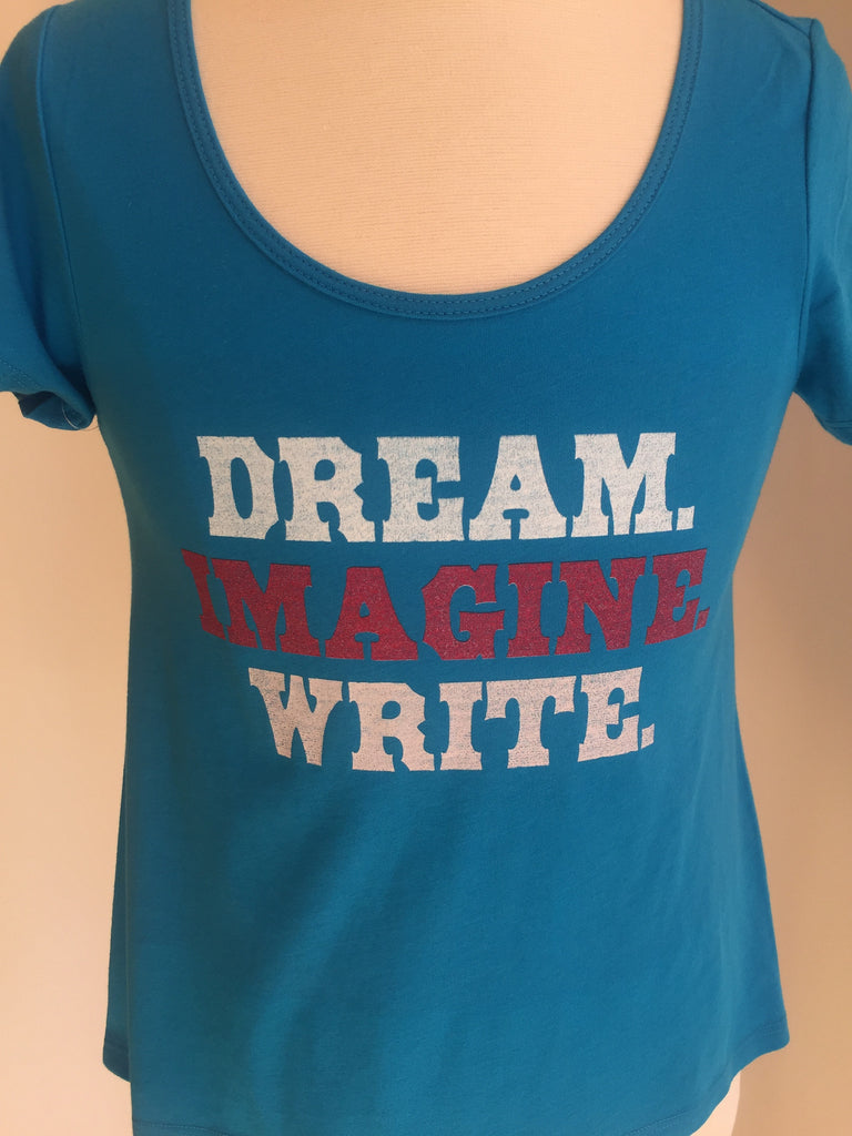 Preprinted: Girl Hi Lo Scoopneck Fashion - Dream Imagine Write