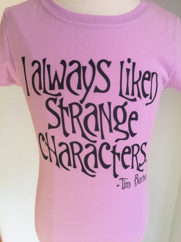 Preprinted Girls Long Tee-Strange Characters