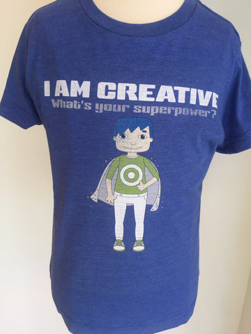 Preprinted Unisex Vintage Tee: BOY- I AM CREATIVE