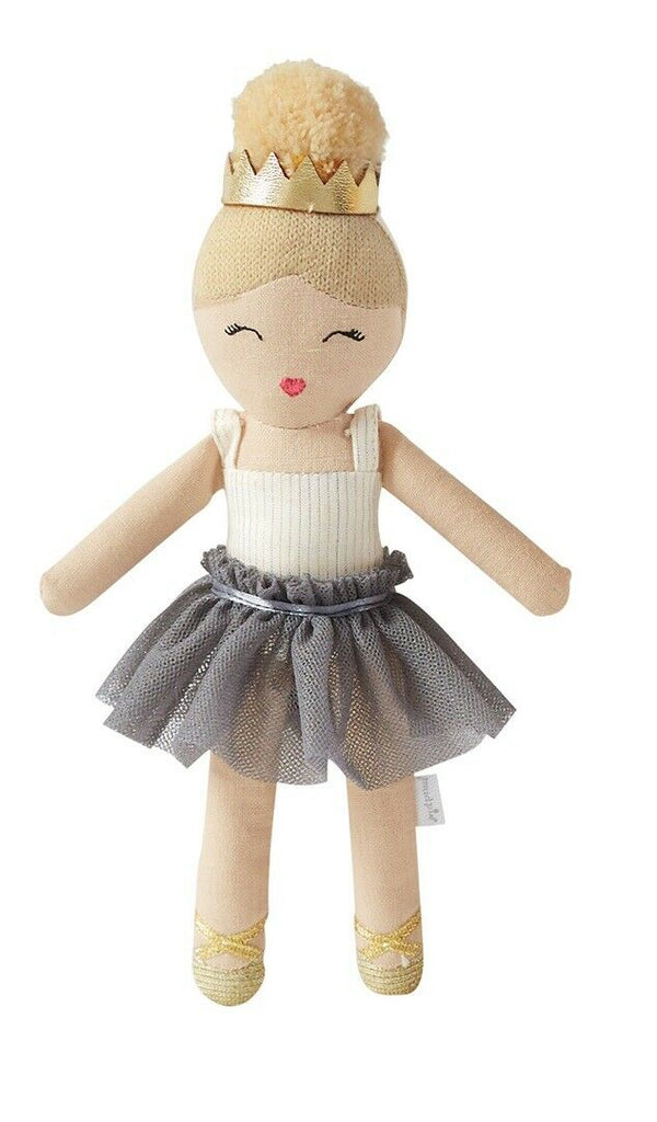 Gray Skirt Ballerina Rattle