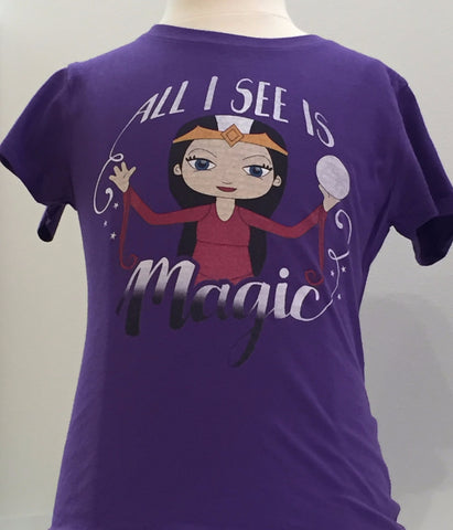 Preprinted Girls Long Tee-Character Magic