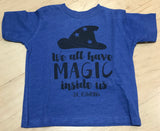 Preprinted Toddler Unisex Vintage Tee:Magic with Hat