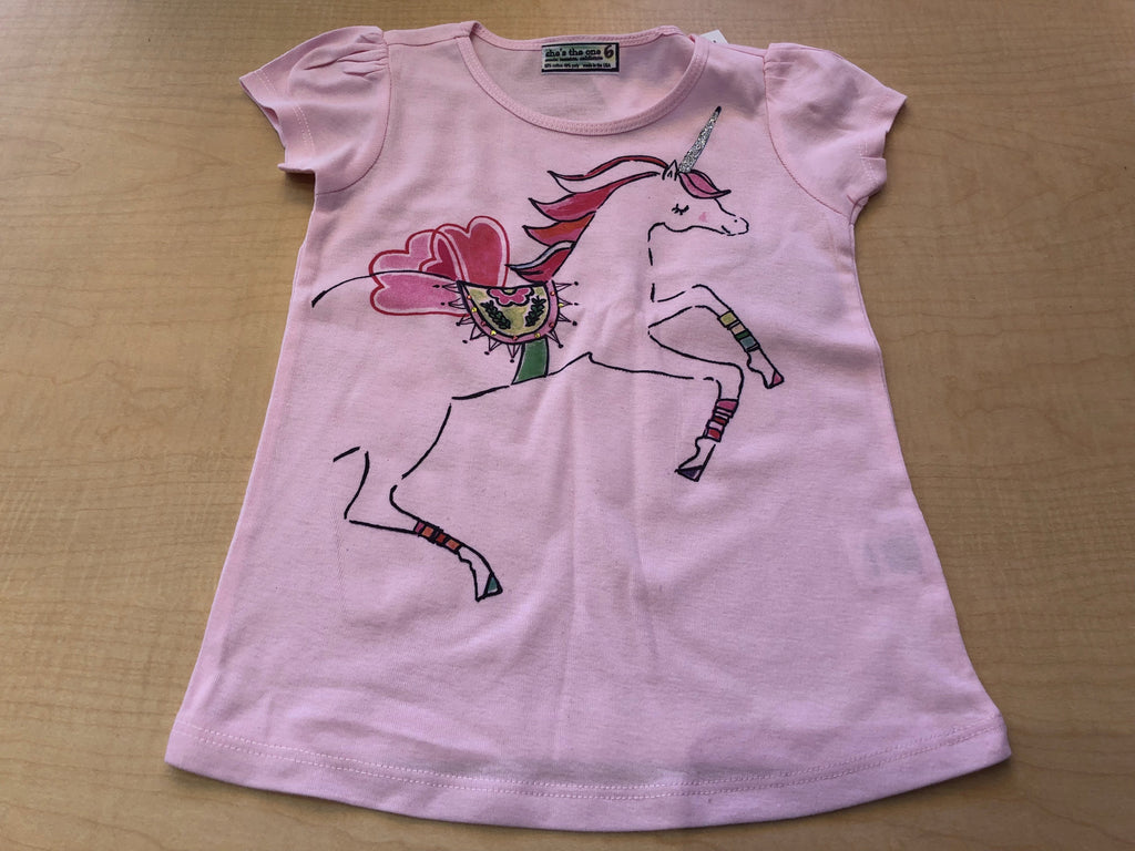 Unicorn Puff Sleeve Tee Shirt