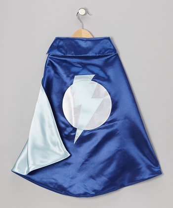Lightning Bolt Cape- Blue