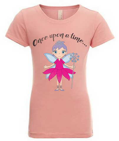 Preprinted Girl Long Tee-Character Once Upon A Time