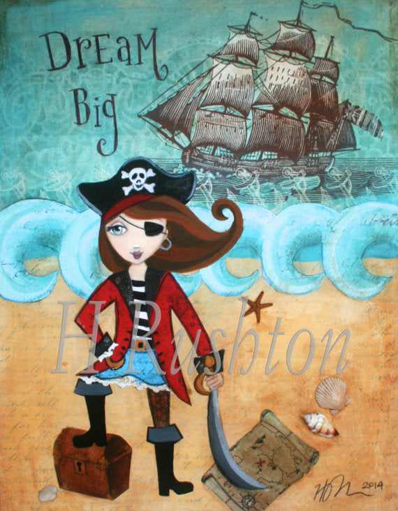 Dream Big Pirate Wall Art