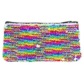 Magic Mini Sequin Pouch- Rainbow/Silver