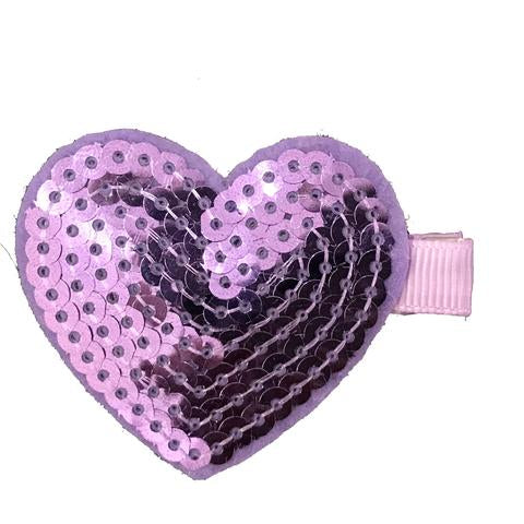 Sequin Heart Clippies