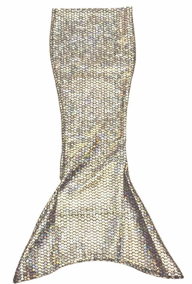 Silver Swimmable Mermaid Tail